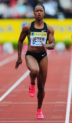 track stars women | Carmelita Jeter, the second-fastest woman in history behind Flo Jo