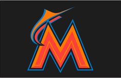 id:E67F2DC473368177B73BFBEE10A5B28C3244776F | Miami Marlins Batting Practice Logo (2016) - A two-toned orange M and ...