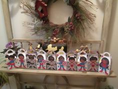 For the Girls  and Boys African American Superhero Gable Boxes Set of 20 by zbrown5 on Etsy