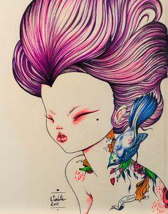 Hosber Art - Blog de Arte & Diseño.: Las ilustraciones de Violeta Hernández