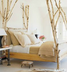 Birch wood bed posts and more unbelievable bedrooms
