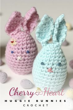 Cherry Heart: Huggie Bunnies to hold cadbury egg