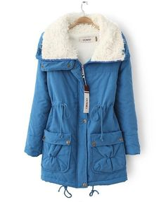 Cozy Warm Top-Quality Candy-Colored Medium Length Hooded Winter Coat 8 Colors S-2XL