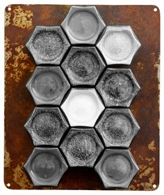 """Rustic Wall Plate for Magnetic Spice Storage. , 10"""" X 12"""" rustic"""