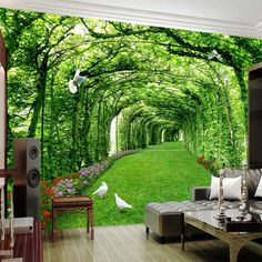 Online Shop Custom Photo Wallpaper For Walls 3 D Green Forest Tree Lawn Stereo Space Backdrop Wall Paper Home Decor Mural Papel De Parede 3d Wallpaper Green, 3d Wallpaper For Bedroom, Look Wallpaper, 3d Wallpaper For Walls, Cheap Wallpaper, Photo Wallpaper, Tree Wallpaper, Wallpaper Desktop, Wallpaper Backgrounds