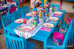 Candy Land table setting