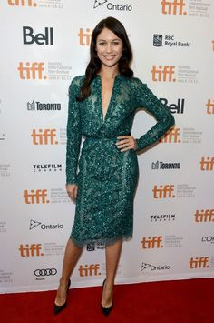 Olga Kurylenko wears ELIE SAAB Haute Couture Fall-Winter 2012-13 for the 'To The Wonder' Premiere at the 2012 Toronto Film Festival.
