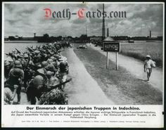 orig. WWII Press Photo - Invasion of Japanese troops in Indochina / Haiphong 1940 - Date of publication: Oct. 28, 1940
