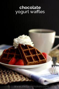 Chocolate Yogurt Waffles | Melanie Makes