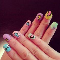 colorful nail