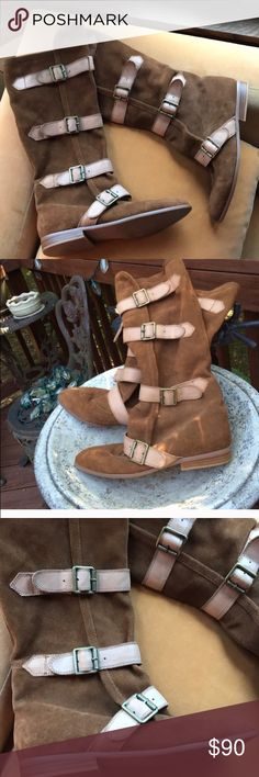 Jeffrey Campbell Ibiza suede boots Slouchy suede boots Re-Posh. I just never wear them & They deserve to be seen! Lol Jeffrey Campbell Shoes Combat & Moto Boots