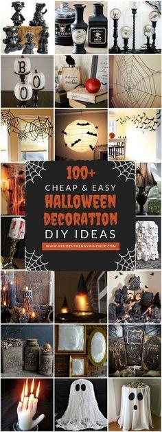 100 Cheap and Easy Halloween Decoration DIY Ideas #halloweenstuff