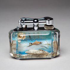 rare Dunhill Aquarium Table Lighters