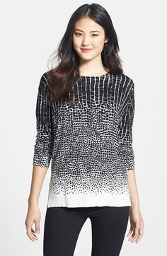 Chaus Print Crewneck Sweater available at #Nordstrom 42