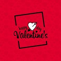 Счастливый день Святого Валентина с красным фоном шаблон
