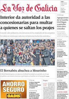 Titulares Y Portada Del 7 De Enero De 2013 Del Diario La Voz De Galicia Que Te Parecio Este Día