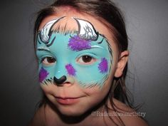 Sully face paint. Monster inc