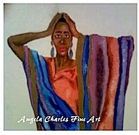 Loving Naomi by Angela Charles Acrylic