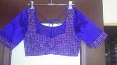 Purple blouse wid jardoshi knote