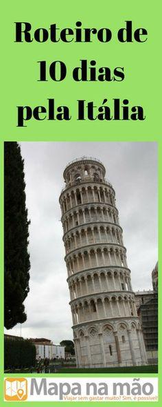 Roteiro de 10 dias pela Itália - Mapa na mão