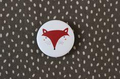 """Buttons - Kids.  Button """"Fuchs"""", matt schöner, schicker Button mit Fuchsmotiv in matter Optik! Durchmesser 3,2 cm 2,00 € inkl. MwSt., zzgl. Versandkosten"""