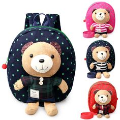 Baby Kids Backpack With Rein Safety Harness Toddler Cartoon Animal Bag Rucksack Extremely Efficient In Preserving Heat Clothing, Shoes & Accessories Backpacks & Bags