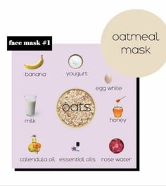 #facemasks #facemaskdiy #skincare #skincareproducts #diy #hacks #homeremedy #facecare #facecareroutine #doityourself #potd #trending Oatmeal Face Mask, Oats And Honey, Face Care Routine, Calendula Oil, Rose Essential Oil, Rose Water, Diy Hacks, Diy Face Mask, Home Remedies