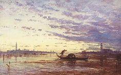Sunset In Venice, View of Venice by Félix Ziem (1821-1911)