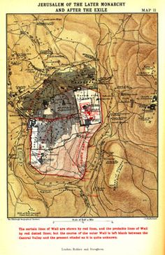 The 12 best maps of ancient israel images on pinterest cards map xi jerusalem of the later monarchy and after the exile facing p gumiabroncs Image collections