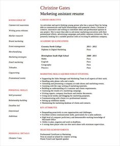 Entry Level Marketing Assistant Resume , Marketing Resume Samples For  Successful Job Hunters , It Is  Marketing Assistant Resume Sample