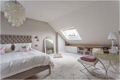 Wonderful Attic Master Bedroom with Skylight - The Urban Interior Small Loft Bedroom, Attic Master Bedroom, Attic Bedroom Designs, Loft Room, Attic Rooms, Home Bedroom, Bedroom Ideas, Loft Bedroom Decor, Attic Loft