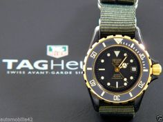 (Pre-TAG) Heuer 1000 Submariner ladies Black Coral on military green Nato 980028   eBay. GBP 379.95 or make offer.