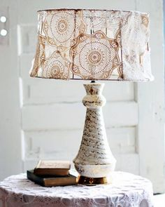 antique doily lamp shade