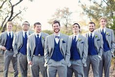 blue and silver wedding tuxedos - Google Search