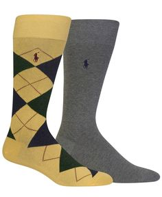 Polo Ralph Lauren Men's Big & Tall 2-Pk. Argyle Socks