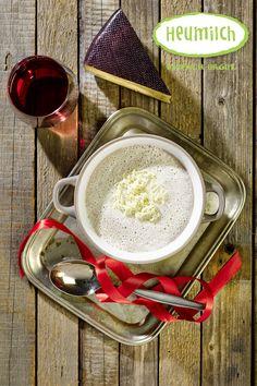 Süßkartoffelsuppe mit Heumilch-Schnittkäse  Die Suppe mit Süßkartoffeln und Maroni ist ein tolles Herbstgericht. Das Rezept passt aber auch pefekt für kalte Wintertage. Unser Tipp: Besonders gut schmeckt diese Suppe mit Heumilch-Rotweinkäse.  (Heumilch, Rezept, Essen, Kochen, Rezeptideen, Süßkartoffel, Maroni, Herbst, Winter, Suppe, Käse, Rotweinkäse, Weihnachten, Lecker, Rotwein, Vegetarisch) Eat Lunch, What To Make, Picky Eaters, Muffins, Brunch, Breakfast, Red Wine, Wine Cheese, Sweet Potato Soup