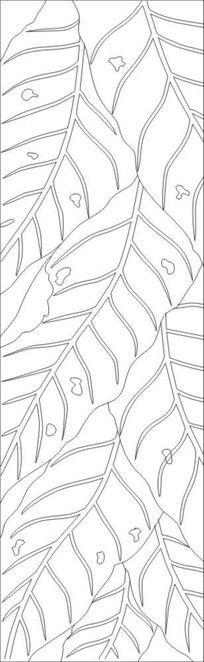 脉叶雕刻图案 CDR