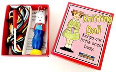 Knitting Nancy Doll - Red