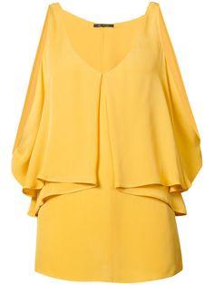KOBI HALPERIN Open Shoulder Draped Blouse. #kobihalperin #cloth #blouse