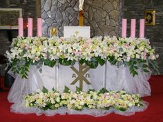 Daum 블로그 - 이미지 원본보기 Altar Flowers, Church Flowers, Altar Decorations, Arte Floral, Ikebana, Fresh Flowers, Floral Arrangements, Wedding Bouquets, Wedding Events