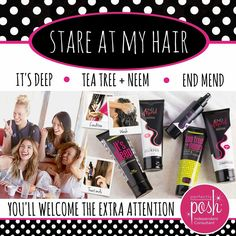 Treat your locks with Perfectly Posh <3   Tea Tree and Neem hair & scalp mask- moisturize and deep clean hair and scalp.  It's Deep conditioner- Daily, deep hair conditioner with nutrient rich sunflower oil for healthy, tangle free hair.   End Mend Shampoo- Sulfate free shampoo enhanced with Kerabeads to help prevent split ends before they start!   End Mend Conditioner- Sunflower seed oil, argan oil, jojoba seed oil, grape seed oil keep your hair soft and silky while the Kerabead works to…