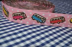 we ♥  GROOVY BULLY VW vintage webband 2 Meter von Lala & Fluse auf DaWanda.com