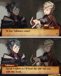 Why did he speak in Chinese and Japanese, ni hao is chinese guys Fire Emblem Fates, Funny Memes, Hilarious, Funny Comics, Voltron Klance, Fan Art, Nintendo Games, Video Games, Anime