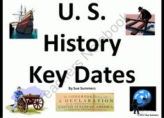 U.S. History Key Dates PowerPoint & Class Signs / Bulletin Board product from Sue-Summers on TeachersNotebook.com