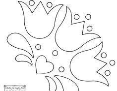 Las chorradikas de Laury: tulipanes apliques o bordados