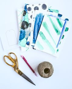 DIY Watercolor Gift