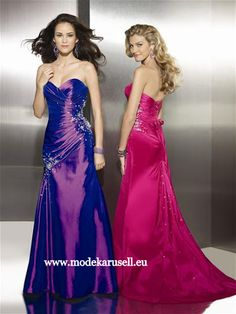Cocktailkleid Abendkleid Lang Pink oder Lila  www.modekarusell.eu