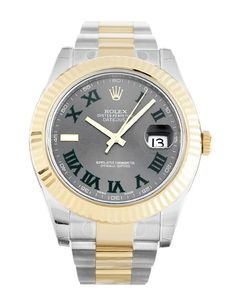 A Rolex Datejust II 116333 featuring a silver Roman Numeral dial