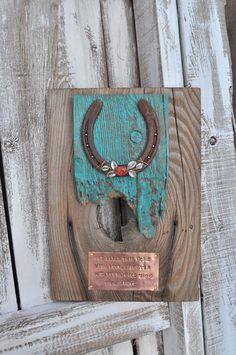 Horseshoe art Western art  House warming by heartifactsgallery, $60.00