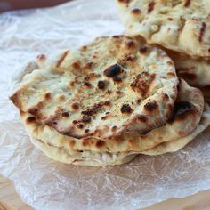 Grilled sourdough flat breads!  Any excuse to use my sourdough starter makes me happy!  :)